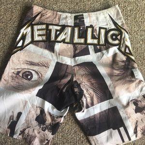 Vintage Metallica/Billabong collab board shorts